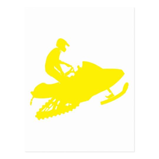 Snowmobiler/sledder Postcard