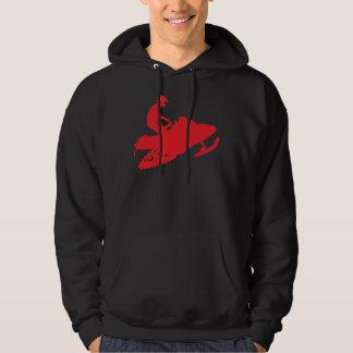 Snowmobiler/trineo rojo sudaderas con capucha