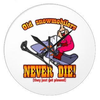 Snowmobilers Reloj Redondo Grande