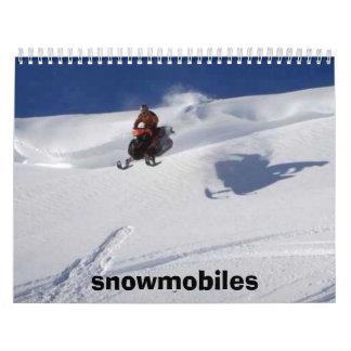 snowmobiles calendar