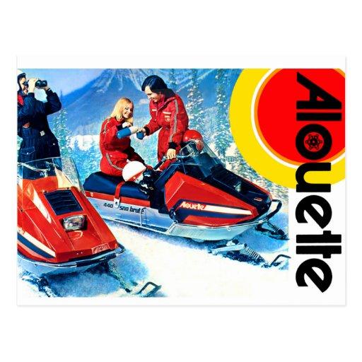 Snowmobiles de Alouette Postales