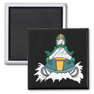 Snowmobiling 3 2 inch square magnet
