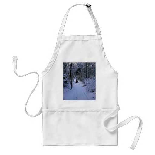 Snowmobiling after fresh snowfall Winter Aprons