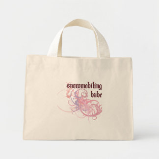 Snowmobiling Babe Mini Tote Bag