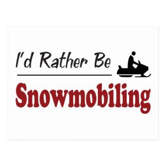 Snowmobiling bastante postal