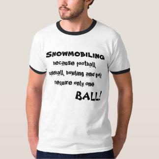 """Snowmobiling because football..."" Sledders.com T-Shirt"