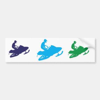 Snowmobiling/ Blue Sled Bumper Sticker