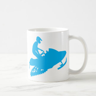 Snowmobiling Blue Sled Mugs