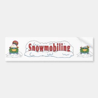 Snowmobiling Car Bumper Sticker