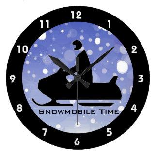 Snowmobiling Design Clock