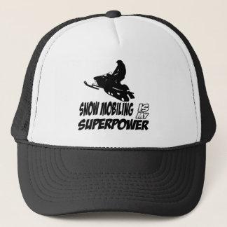 Snowmobiling designs trucker hat