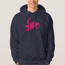 Snowmobiling/Hot Pink Sled Hoodie