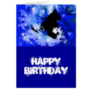Snowmobiling in the Avalanche Greeting Card