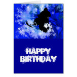 Snowmobiling in the Avalanche Greeting Cards