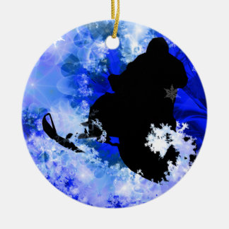 Snowmobiling in the Avalanche Christmas Ornaments