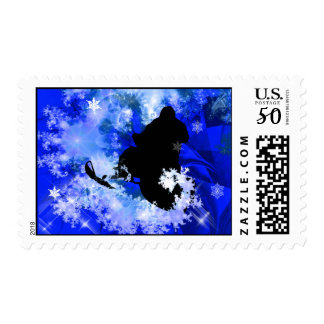 Snowmobiling in the Avalanche Postage