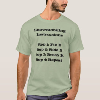 """Snowmobiling Instructions"" Sledders.com T-shirt"