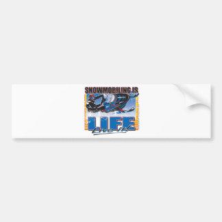SNOWMOBILING-IS-LIFE-zazz Bumper Sticker