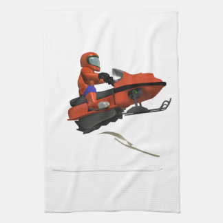 Snowmobiling Jump 2 Hand Towel