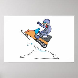 Snowmobiling Jump Print