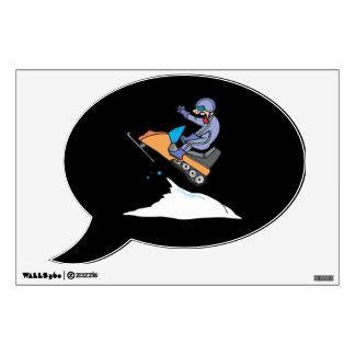 Snowmobiling Jump Wall Sticker