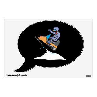 Snowmobiling Jump Room Decal