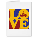 Snowmobiling Love Greeting Cards