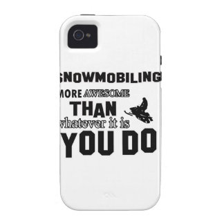 snowmobiling más impresionante iPhone 4 funda