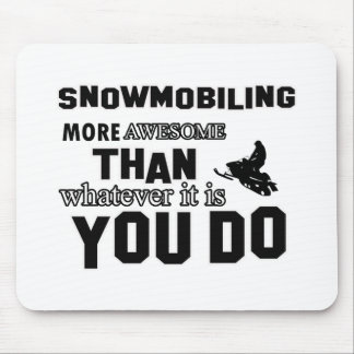 snowmobiling  more awesome mouse pad