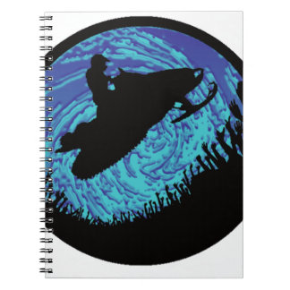 SNOWMOBILING NIGHT EXPEDITION SPIRAL NOTEBOOK