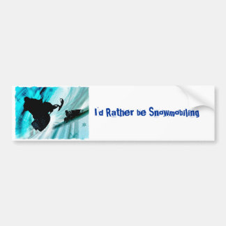 Snowmobiling on Icy Trails Bumper Sticker