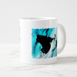 Snowmobiling on Icy Trails Giant Coffee Mug