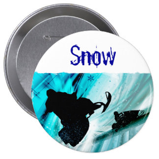 Snowmobiling on Icy Trails Pinback Button