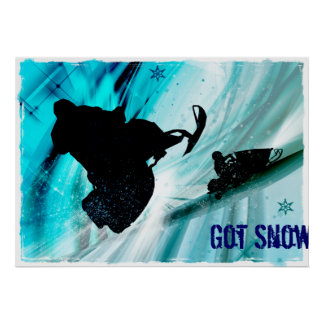 Snowmobiling on Icy Trails Poster