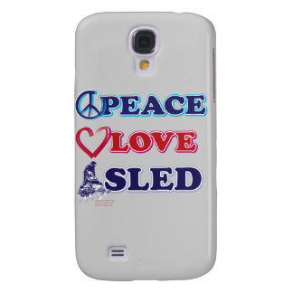 Snowmobiling/Peace,Love,Sled Galaxy S4 Cover