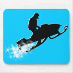 snowmobiling powder trail mouse pads