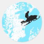snowmobiling powder trail. stickers