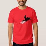 snowmobiling powder trail t-shirts