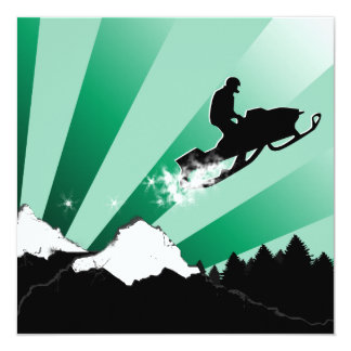 snowmobiling : pthalo powder trail card