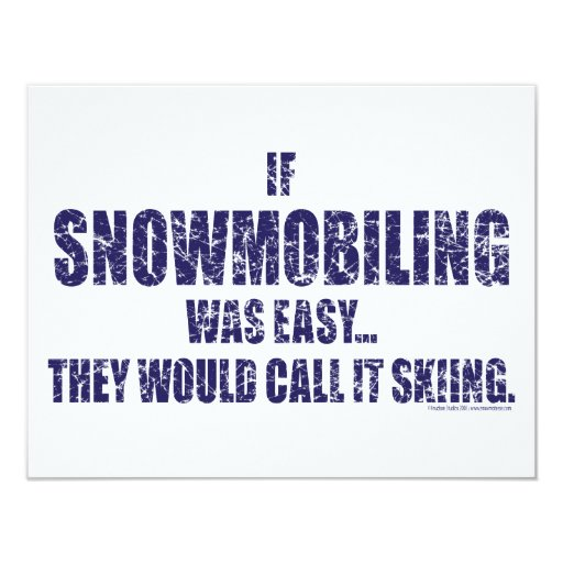 Snowmobiling-ser-FÁCIL [1] Invitación 10,8 X 13,9 Cm