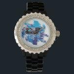 """Snowmobiling/snowmobiler Watch<br><div class=""""desc"""">cool snowmobiler design</div>"""