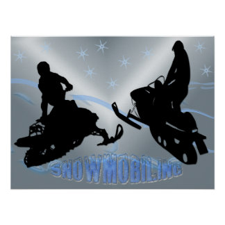 Snowmobiling - Snowmobilers 24x18 Poster