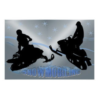 Snowmobiling - Snowmobilers 36x24 Poster