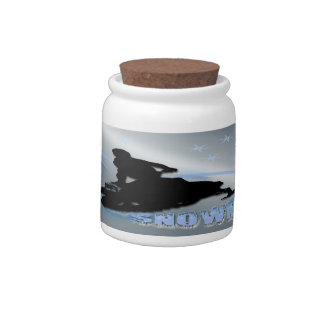 Snowmobiling - Snowmobilers Candy Jar