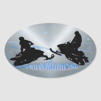 Snowmobiling - Snowmobilers Oval Sticker