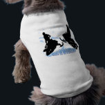 """Snowmobiling - Snowmobilers Pet Clothing<br><div class=""""desc"""">Snowmobiling - Snowmobilers Customizable pet t-shirts. This Snowmobiling design is for all you Snowmobilers and Snowmobiling fans out there. It features 2 Snowmobiler silhouettes, snow tracks and snowflakes . The decorative snow capped text reads Snowmobiling. Pamper your pup and be the envy of the dog park with this customized pet...</div>"""