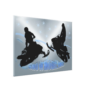 Snowmobiling - Snowmobilers Wrapped Canvas