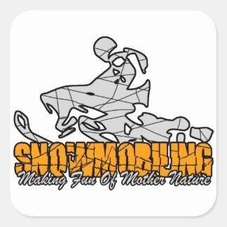 Snowmobiling Square Sticker