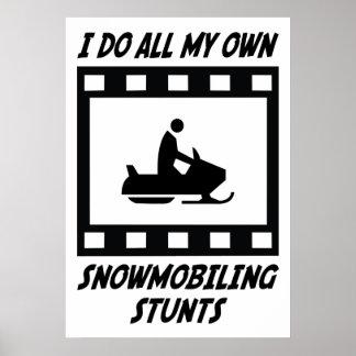 Snowmobiling Stunts Poster