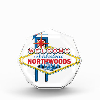 Snowmobiling/Welcome to the Fabulous Northwoods Acrylic Award
